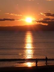 golden belt at dusk